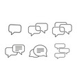 set message icons vector image