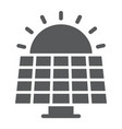 solar panel glyph icon ecology and energy vector image vector image