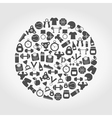 Sports a circle vector image
