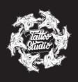 tattoo studio handwritten lettering hand drawn of vector image vector image