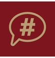 The hashtag icon Social network and web vector image vector image