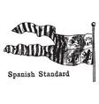 the spanish standard flag vintage vector image vector image