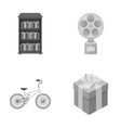 trainingsport and other monochrome icon in vector image
