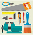 various color flat design house repair vector image vector image