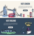 Visiting England and London Touristic Web Banners vector image vector image