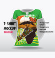 wild africa editable layout women t-shirts vector image vector image