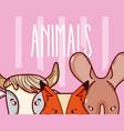 wild animals cartoons vector image
