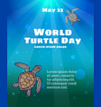 world turtle day may 23 vector image vector image