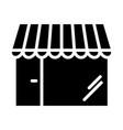 shop silhouette icon 48x48 store minimal pictogram vector image