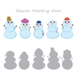Set of cute cartoon funny snowman isolated on vector image