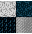 Set of four seamless abstract background vector image