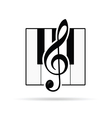 violin key icon vector image