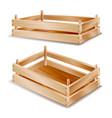 wooden box empty wooden crate empty fruit vector image