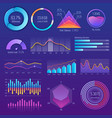 3d chart and graphic diagram with options and vector image vector image