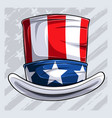 4th july uncle sam hat independence day hat vector image