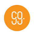 99 co dot logo icon on circle vector image vector image