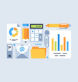 accounting tools set vector image vector image