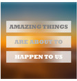 amazing things background vector image vector image