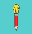 best idea concept design with pencil and electric vector image vector image