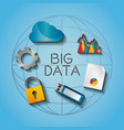 big data world network digital media vector image