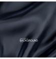 Black silk fabric vector image vector image