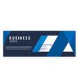 blue modern business banner design image vector image vector image