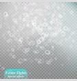 bokeh background snowflakes isolated vector image vector image