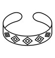 bracelet icon outline style vector image