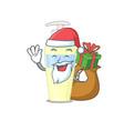 cartoon design serum santa having christmas vector image vector image