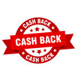 cash back ribbon cash back round red sign cash vector image vector image