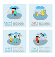 characters people walking in the rain poster vector image
