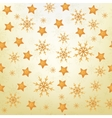 Christmas background of snowflakes and stars vector image vector image