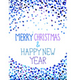 christmas background with watercolor blue dots vector image vector image