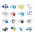 Cloud network icon set