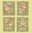 coffee break retro vintage vector image vector image