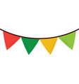 colored garland pennant decoration festive vector image vector image
