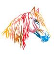colorful decorative portrait orlov trotter vector image vector image