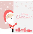 cute santa claus cartoon lovely christmas vector image vector image