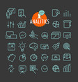 different analitics icons collection web and vector image vector image