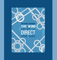 different nautical sailor knots and ropes vector image vector image