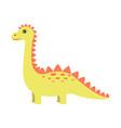 dinosaur yellow color vector image vector image