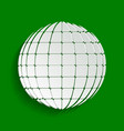 earth globe sign paper whitish icon with vector image vector image