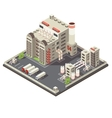 Factory Industrial Area Isometric vector image vector image