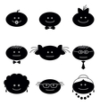 Funny faces set vector image