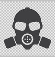 gas mask with flat and solid color style vector image vector image