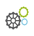 gears settings machine icon vector image vector image