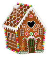 gingerbread house with christmas candies vector image vector image