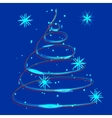 glowing Christmas light vector image vector image