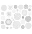 grey circles set vector image