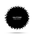 halftone dots circle frame logo emblem design vector image